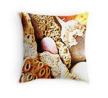 Seashells and rocks too Throw Pillow