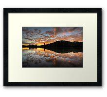 Sunset Spatter Framed Print