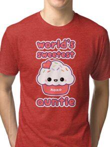World's Sweetest Auntie Tri-blend T-Shirt