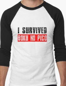 I survived Boku No Pico Anime Cosplay Japan T Shirt  Men's Baseball ¾ T-Shirt