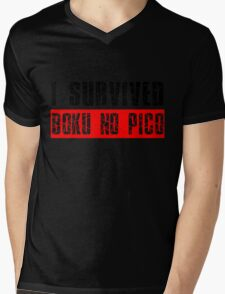 I survived Boku No Pico Anime Cosplay Japan T Shirt  Mens V-Neck T-Shirt