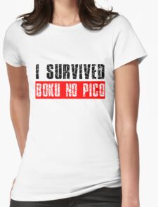 I survived Boku No Pico Anime Cosplay Japan T Shirt  Womens Fitted T-Shirt