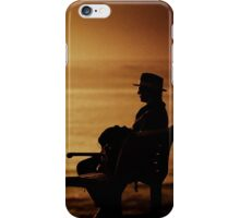 Watching sunrise at Cronulla iPhone Case/Skin