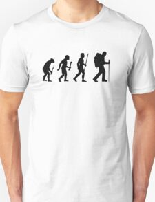 Evolution of Man and Hiking T-Shirt