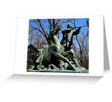Soldier and Horse at Vicksburg Siege Memorial Greeting Card