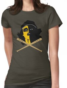 Baseball Furies Skull & Crossbones Womens Fitted T-Shirt