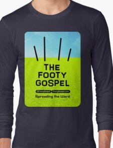 Textured Logo Long Sleeve T-Shirt