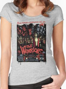 The Warriors Poster Women's Fitted Scoop T-Shirt