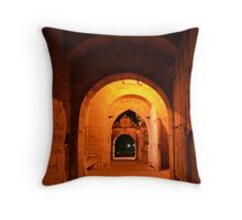 Rothenburg West Gate Inside at Night Throw Pillow