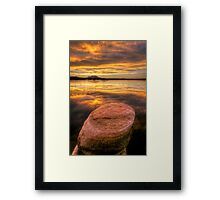 Round and Down Framed Print