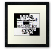 Glitch Skull Framed Print