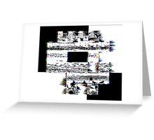 Glitch Skull Greeting Card
