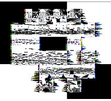 Glitch Skull Photographic Print