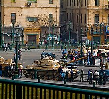Egypt. Cairo. Tanks on the Streets. by vadim19