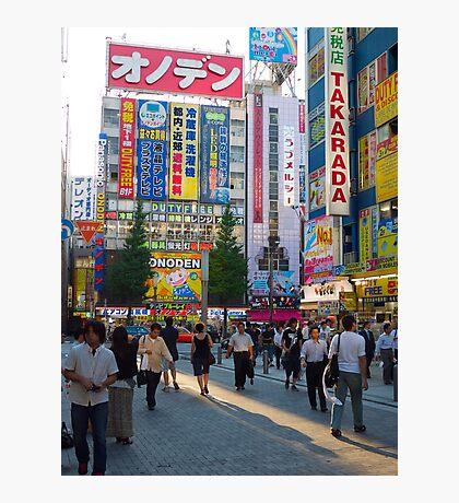Woman walking in Akihabara, Tokyo, Japan Photographic Print