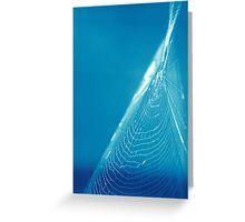 Blue Web Greeting Card