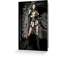 Blue Eyed Mistress Greeting Card