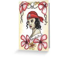 Pirate Girl Greeting Card