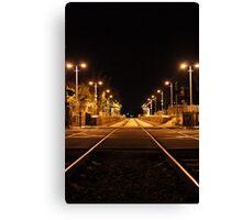 Railway Line at night Canvas Print