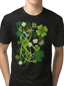 Designer Shamrocks Tri-blend T-Shirt
