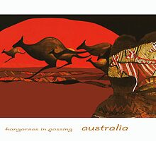 Kangaroos in Passing by DannyBurns