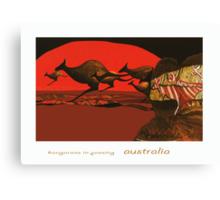 Kangaroos in Passing Canvas Print