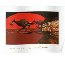 Kangaroos in Passing Poster