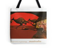Kangaroos in Passing Tote Bag
