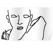 spanish flamenco dancer -(050311)- mouse drawn/ms paint Poster