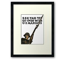 Go Over With US Marines -- WWI Framed Print