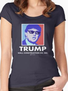 Trump Wall Construction Company Women's Fitted Scoop T-Shirt