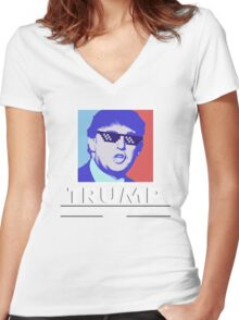 Trump Wall Construction Company Women's Fitted V-Neck T-Shirt