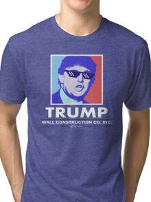 Trump Wall Construction Company Tri-blend T-Shirt