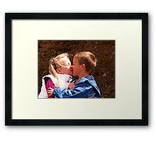 Loving siblings ! Framed Print