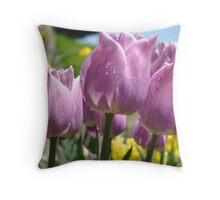 Floral Spring Lavender Tulip Flowers Garden Baslee Troutman Throw Pillow