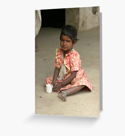 Young Indian Girl, Rajasthan Greeting Card
