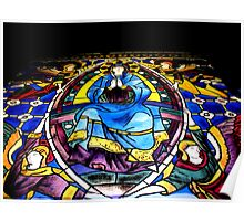 Stained Glass Painting Poster