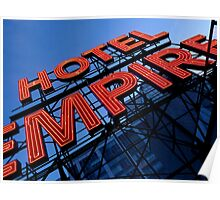 Empire Hotel with a perfect sky Poster