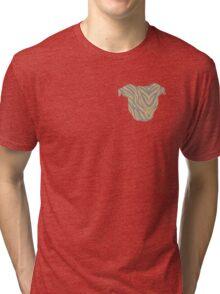Pittie Head Brindle Tri-blend T-Shirt