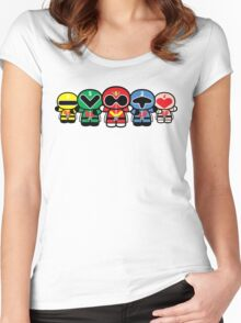 Chibi-Fi Super Sentai Goranger Women's Fitted Scoop T-Shirt