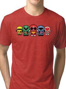 Chibi-Fi Super Sentai Goranger Tri-blend T-Shirt