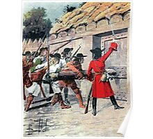 Louis Charles Bombled Attaque du fort Monsipi par d Iberville Poster