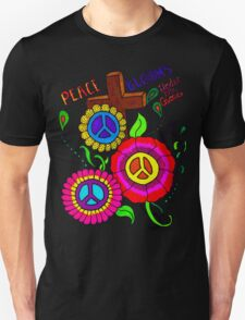 Peace Blooms Tee Unisex T-Shirt