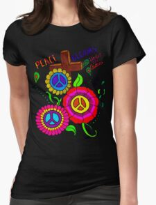 Peace Blooms Tee Womens Fitted T-Shirt