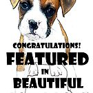 Beautiful Boxer Dogs Group Feature Banner by Vanessa Barklay