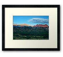Morning Light Over Pikes Framed Print