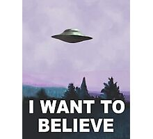 I want to believe (purple) Photographic Print