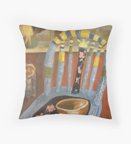 Rooster In The Window Throw Pillow