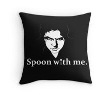 Spoon With Me. Throw Pillow