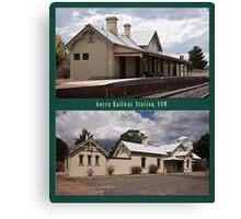 Uralla Railway Station, NSW (circa 1882) Canvas Print